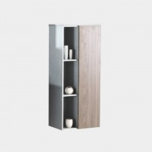 European style hang mdf bathroom mirror cabinet with side cabinet
