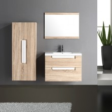 800mm High Quality White Lacquer Handle Modern Bathroom Cabinets