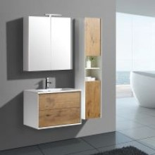 Germany Design Modern Push-open Mixed Color Bathroom Furniture