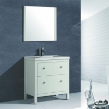800mm White Contemporary Bathroom Vanity Units with Modern Sink