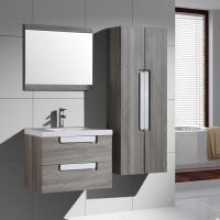 Muebles de China OEM New Design Wood Grain Bathroom Cabinet