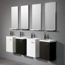 European Style Marble Cabinet Designs for Small Bathroom