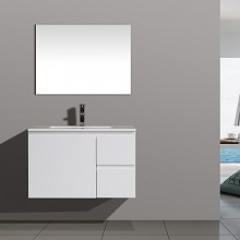 750mm Wall Mount White Lacquer Classical Bathroom Vanity