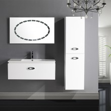 Goldea Athena Wall Hung Two Pack Storage Glass Bathroom Vanity