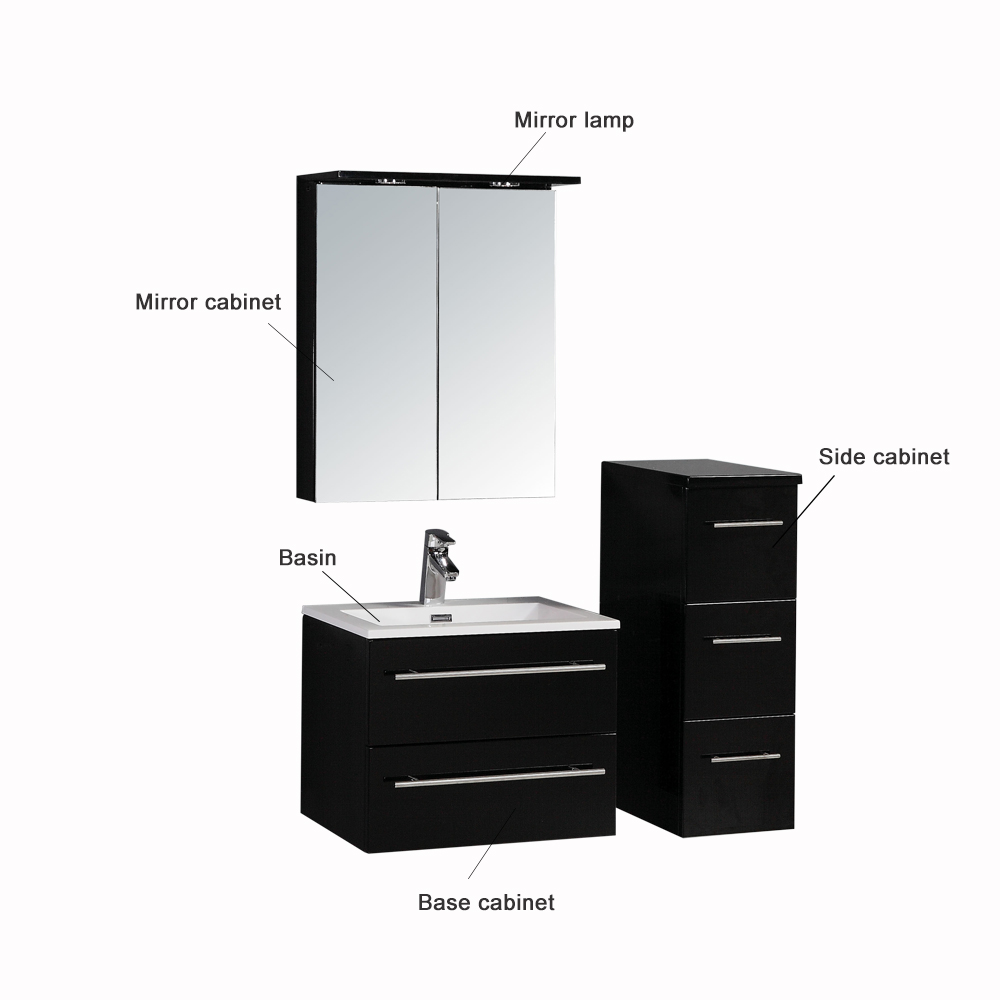 Goldea Athena Wall Hung Vanity Cabinets Bathroom ODM Vanities-Athena ...